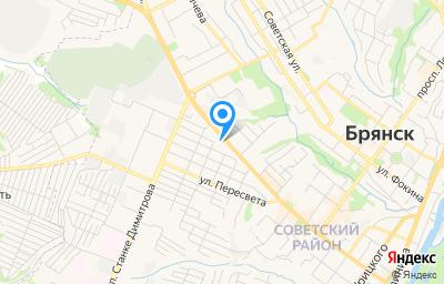 Местоположение на карте пункта техосмотра по адресу г Брянск, ул Красноармейская, д 93