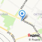 Бирюса на карте Петрозаводска
