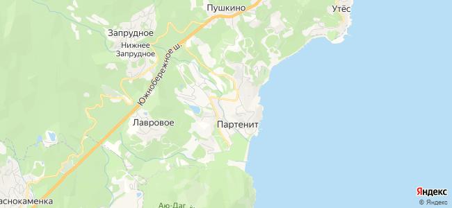 Партенит и Утес - объекты на карте