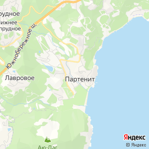 Карта города Партенита