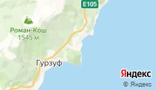 Гостиницы города Партенит на карте