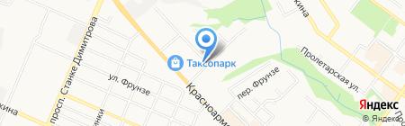 Базовый корм на карте Брянска