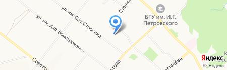 Управление Министерства юстиции РФ по Брянской области на карте Брянска