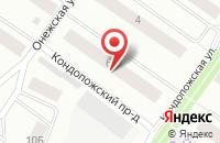 Схема проезда до компании Онежский Сувенир в Петрозаводске