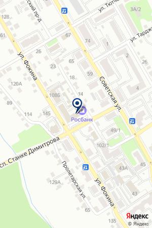 АКБ РОСБАНК на карте Брянска