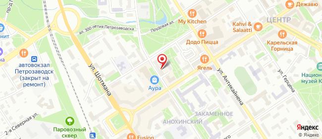 Карта расположения пункта доставки Lamoda/Pick-up в городе Петрозаводск