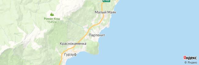 Партенит на карте