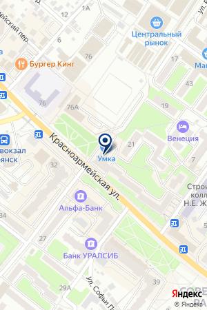 СОВЕТСКОЕ ОТДЕЛЕНИЕ БРЯНСКИЙ ФИЛИАЛ ЖЕЛДОРБАНК на карте Брянска