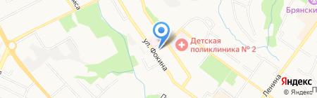 Детский сад №25 на карте Брянска