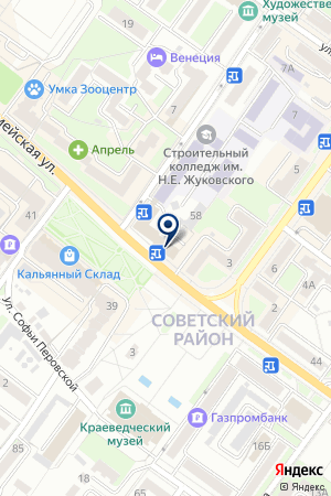 ГОСУДАРСТВЕННАЯ ИНСПЕКЦИЯ ТРУДА БРЯНСКОЙ ОБЛАСТИ на карте Брянска