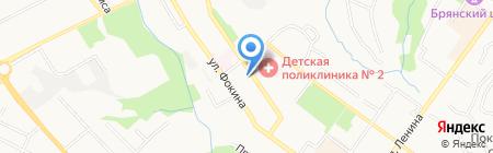 Брянский областной врачебно-физкультурный диспансер на карте Брянска