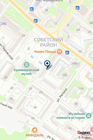 ФИЛИАЛ ГАЗПРОМБАНК на карте Брянска