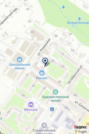 БРЯНСКИЙ ФИЛИАЛ МОСКОМПРИВАТБАНК на карте Брянска