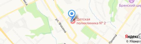 Травматологический пункт на карте Брянска
