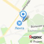 Лента на карте Петрозаводска