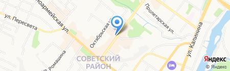 Магазин тканей на проспекте Ленина на карте Брянска