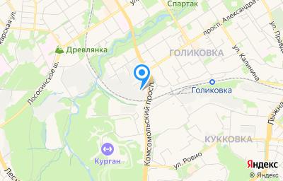 Местоположение на карте пункта техосмотра по адресу г Петрозаводск, р-н Голиковка, пр-кт Комсомольский, д 2А