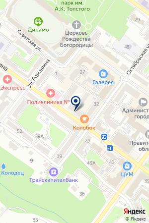 РУСЬ-БАНК на карте Брянска