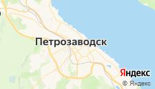 Гостиницы города Петрозаводск на карте