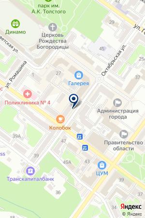 НОТАРИУС БАРАНЮК Н.М. на карте Брянска