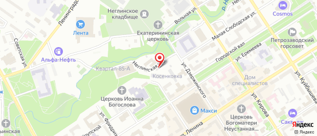Карта расположения пункта доставки Петрозаводск Неглинская в городе Петрозаводск
