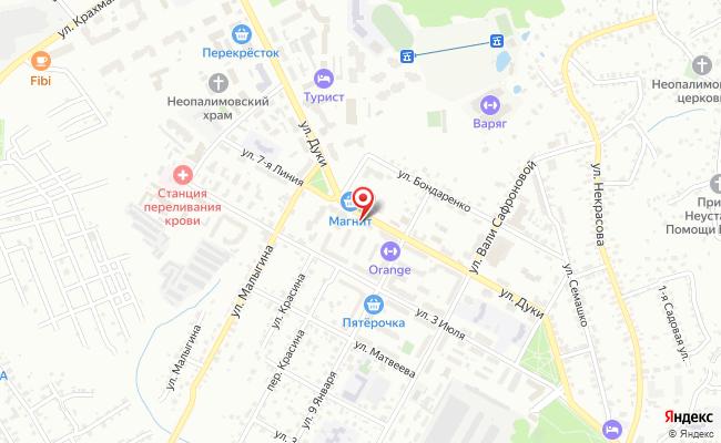 Карта расположения пункта доставки 220 вольт в городе Брянск