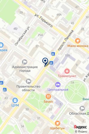 ЭКСМАШ на карте Брянска