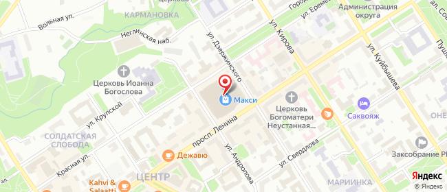 Карта расположения пункта доставки Петрозаводск Ленина в городе Петрозаводск