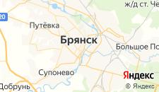 Гостиницы города Брянск на карте