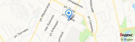 Луч на карте Брянска