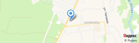 Автостоянка на ул. Карла Маркса на карте Фокино