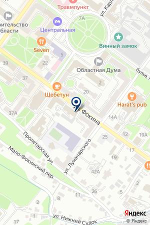 БРЯНСКИЙ ФИЛИАЛ АКЦИОНЕРНЫЙ БАНК СОЛИДАРНОСТЬ на карте Брянска