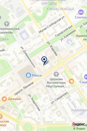 УЧАСТОК ТЕПЛОВЫХ СЕТЕЙ ТЭЦ на карте Петрозаводска