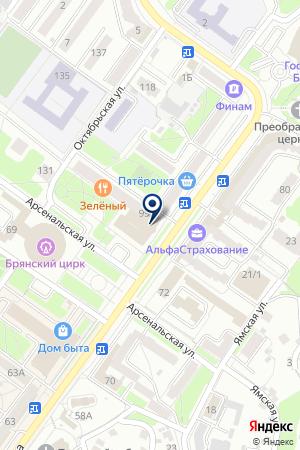 ФИЛИАЛ № 3271 БАНК ВТБ 24 на карте Брянска