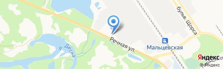 100 Авто на карте Брянска