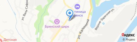 АКБ Ланта-Банк на карте Брянска