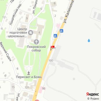 г. Брянск, ул. Калинина, на карта