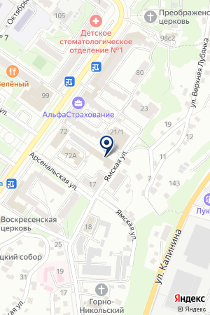 БИЗНЕС-ШКОЛА ЛИНК на карте Брянска