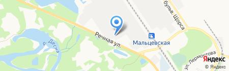 Центр покраски автомобиля на карте Брянска