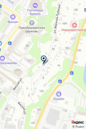 ДК ВСЕРОССИЙСКОЕ ОБЩЕСТВО СЛЕПЫХ (ВОС) на карте Брянска