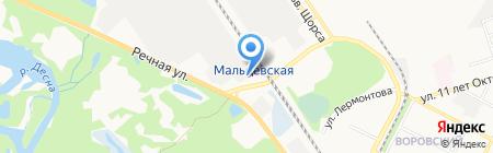 Элемер-Брянск на карте Брянска