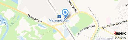 Газелька на карте Брянска