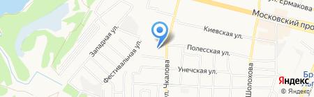 Банкомат АКБ РОСБАНК на карте Брянска