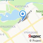 Отряд противопожарной службы по Прионежскому району на карте Петрозаводска