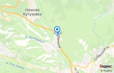 Местоположение на карте пункта техосмотра по адресу Респ Крым, г Алушта, с Нижняя Кутузовка, ул Ленина, д 116Г