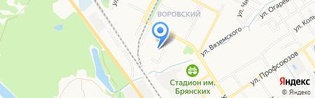 Детский сад №117 на карте Брянска