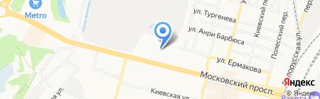 Детский сад №55 на карте Брянска