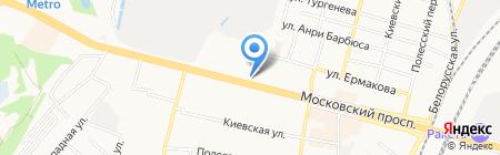 Кайман на карте Брянска