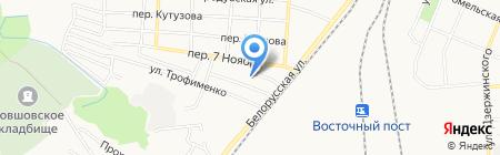 Продуктовый магазин в переулке 7 Ноября на карте Брянска