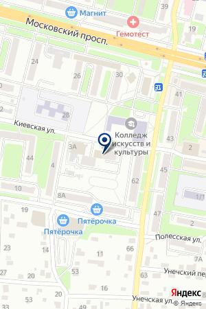 ДОПОЛНИТЕЛЬНЫЙ ОФИС № 0138 БРЯНСКОЕ ОТДЕЛЕНИЕ № 8605 СБЕРБАНК РОССИИ на карте Брянска